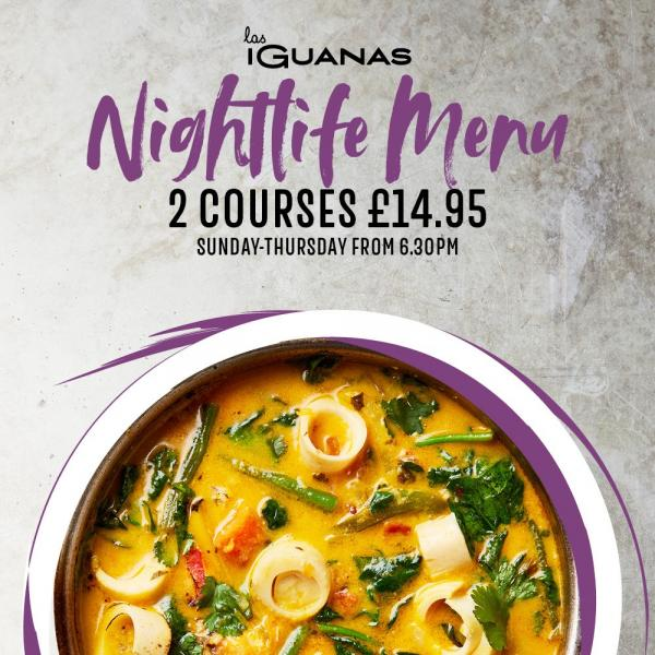 The Nightlife Menu Riverside Entertainment Norwich
